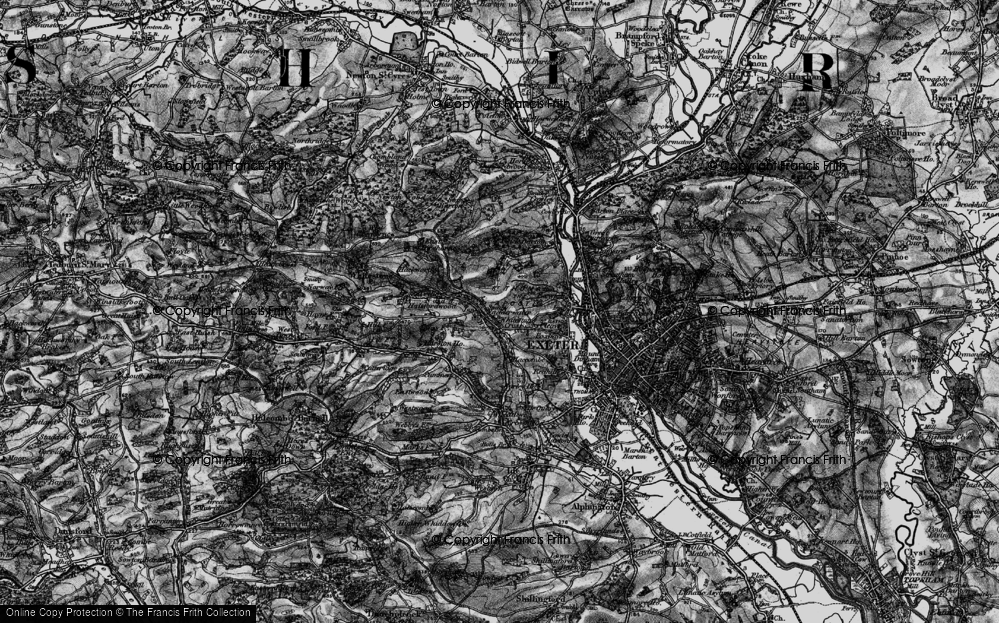 Old Map of Historic Map covering Alphin Brook in 1898