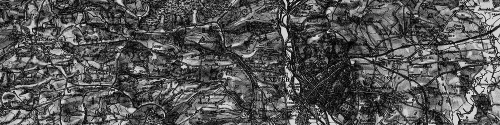 Old map of Alphin Brook in 1898