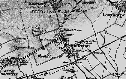 Old map of Nafferton in 1898