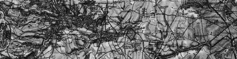 Old map of Westrip Farm Ho in 1896