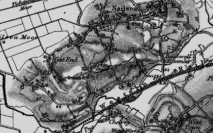 Old map of Nailsea in 1898