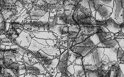 Old map of Nancegollan in 1895