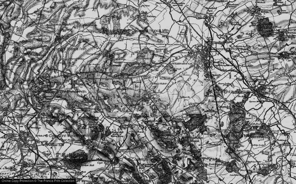 Old Map of Historic Map covering Wood Brook in 1895