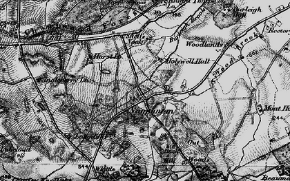 Old map of Wood Brook in 1895