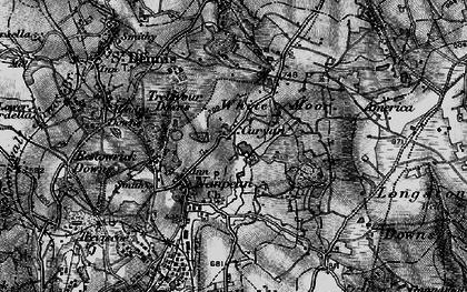 Old map of Nanpean in 1895