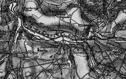Old map of Nanstallon in 1895