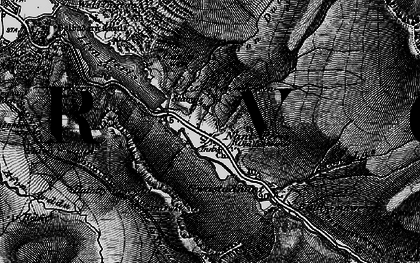 Old map of Afon Gafr in 1899