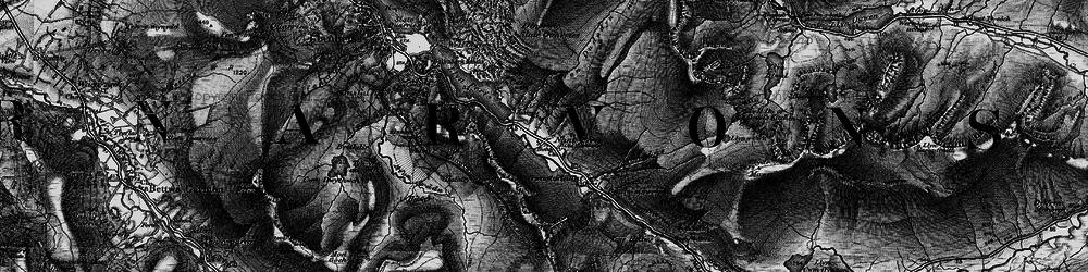 Old map of Afon Arddu in 1899