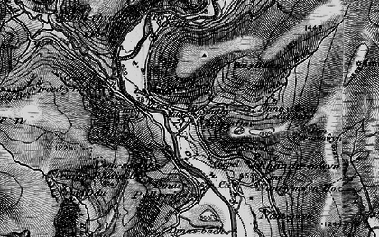 Old map of Ystradffin in 1898