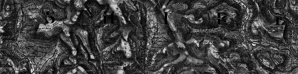 Old map of Nant-y-moel in 1897