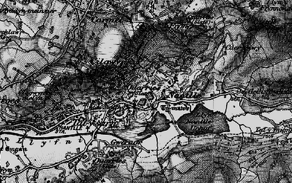 Old map of Nantlle in 1899