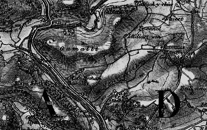 Old map of Yr Wylorn in 1898