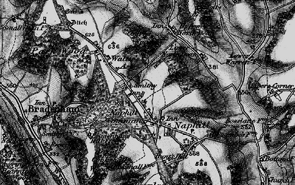 Old map of Naphill in 1895