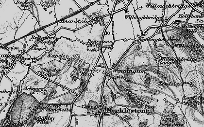 Old map of Willoughbridge Lodge in 1897