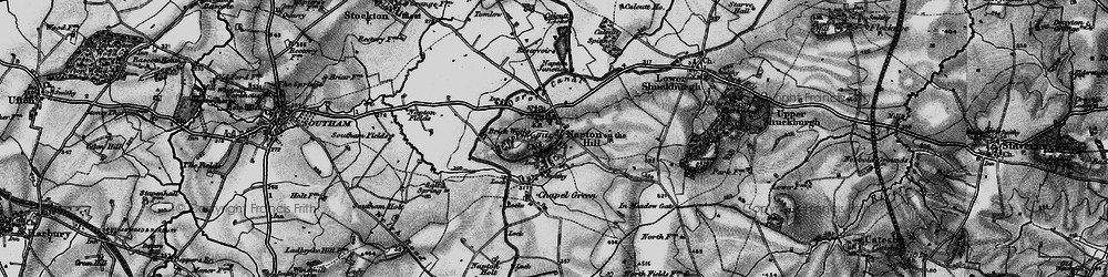 Old map of Napton on the Hill in 1898