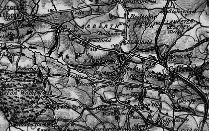 Old map of Narberth in 1898