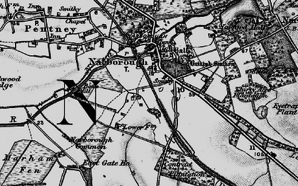 Old map of Narborough in 1898
