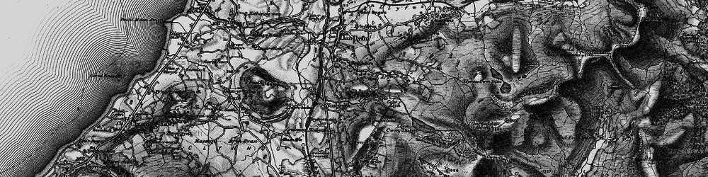 Old map of Afon Crychddwr in 1899