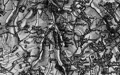 Old map of Nash in 1899