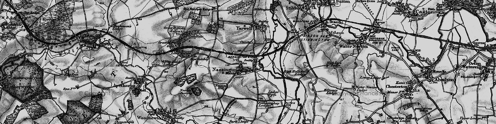 Old map of Nassington in 1898