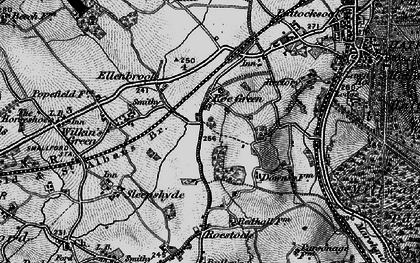 Old map of Nast Hyde in 1896