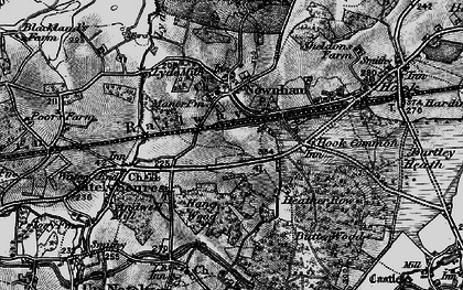 Old map of Nately Scures in 1895
