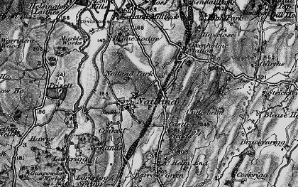 Old map of Natland in 1897