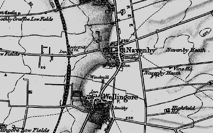 Old map of Navenby in 1899