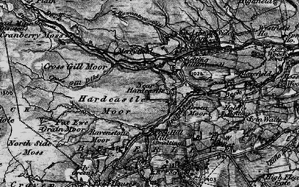 Old map of Ashfold Side Beck in 1898