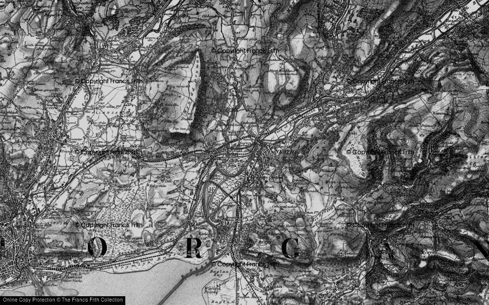 Old Map of Neath, 1898 in 1898