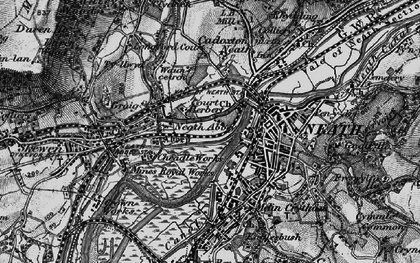 Old map of Neath in 1898