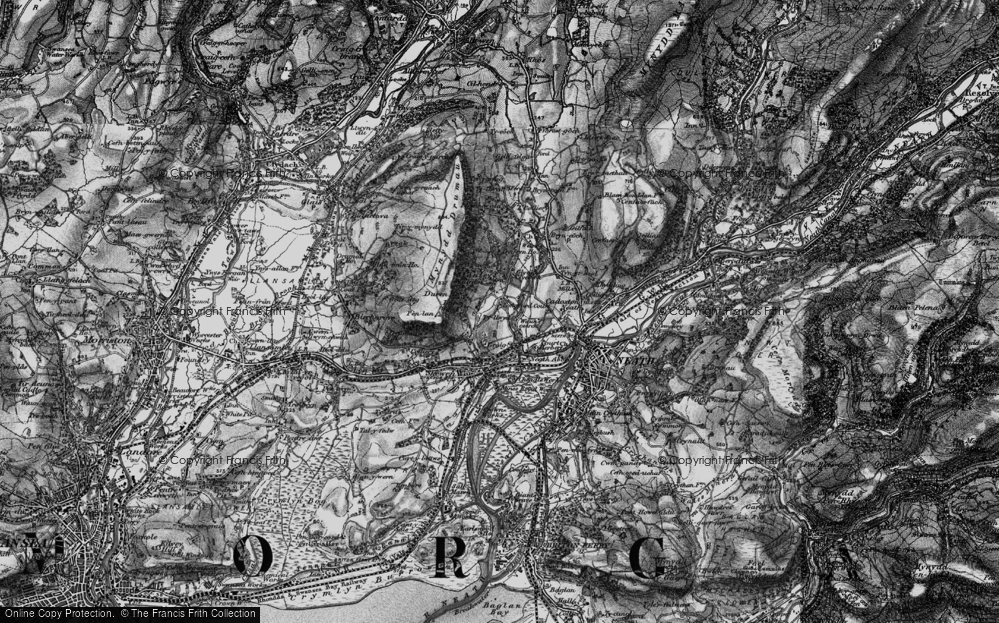 Old Map of Neath Abbey, 1898 in 1898