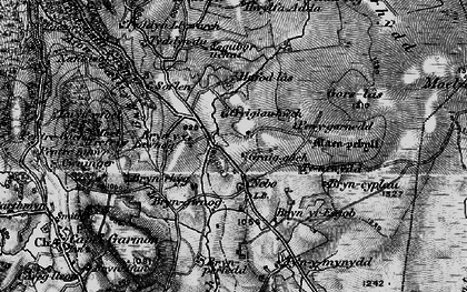Old map of Afon Iwrch in 1899