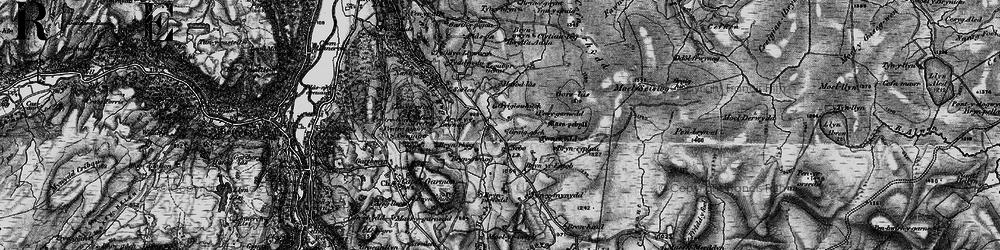 Old map of Afon Iwrch in 1899