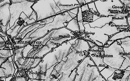 Old map of Nedging Tye in 1896