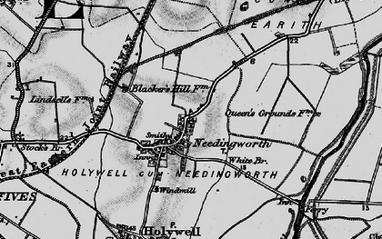 Old map of Needingworth in 1898