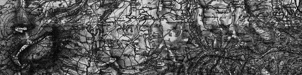 Old map of Wyre Common in 1899