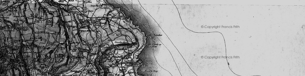 Old map of White Stone Hole in 1897