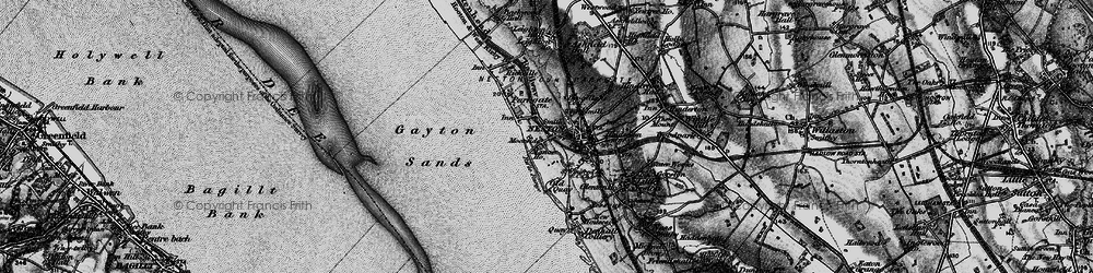Old map of Neston in 1896