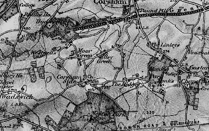 Old map of Neston in 1898