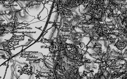 Old map of Nether Alderley in 1896