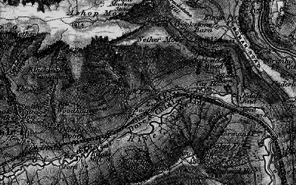 Old map of Back Tor in 1896