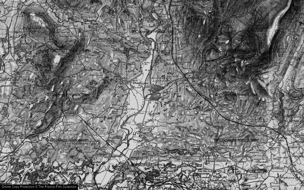 Old Map of Nether Burrow, 1898 in 1898