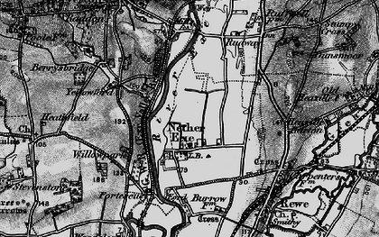 Old map of Yellowford in 1898