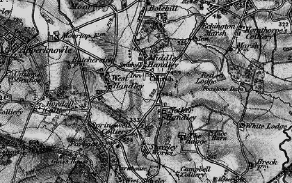 Old map of Nether Handley in 1896