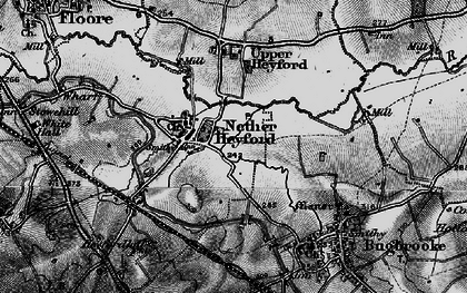 Old map of Nether Heyford in 1898
