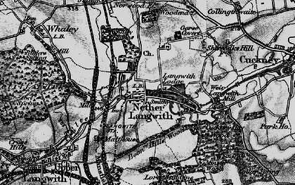 Old map of Langwith Mill Ho in 1899