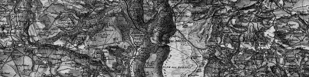 Old map of White Edge Moor in 1896