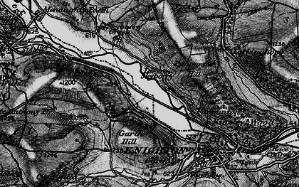 Old map of Whitterleys, The in 1899