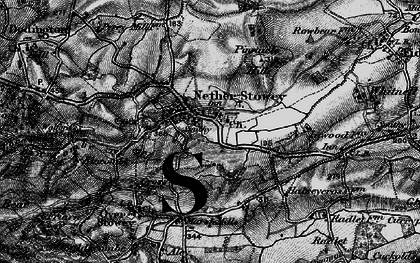 Old map of Nether Stowey in 1898